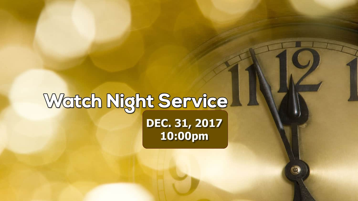 Read more about the article Watch Night Service