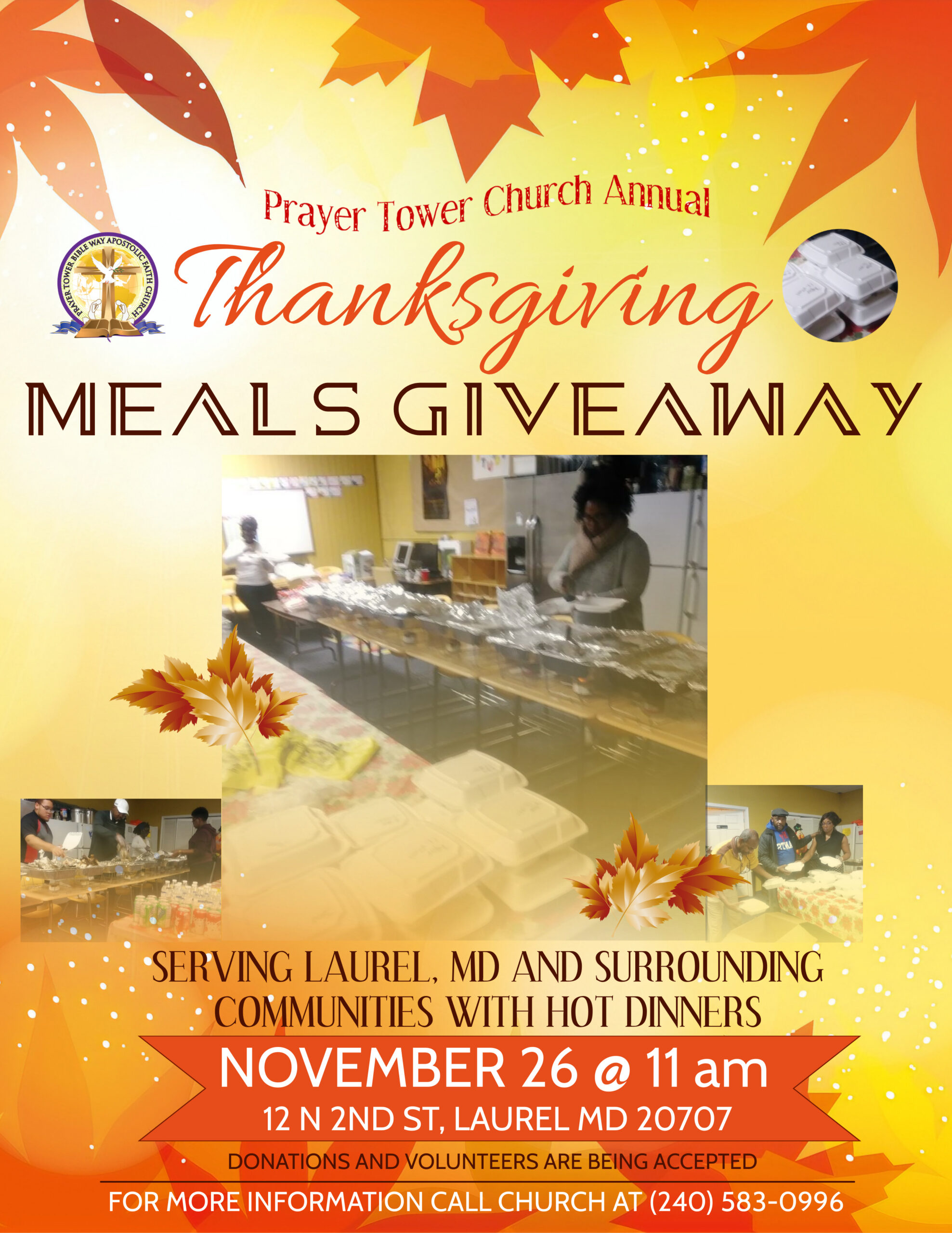 Thanksgiving Giveaway of FREE Meals